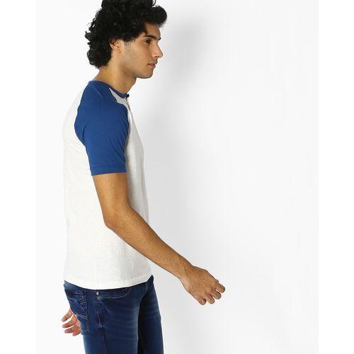 Teamspirit Colourblock Henley T-shirt with Raglan Sleeves
