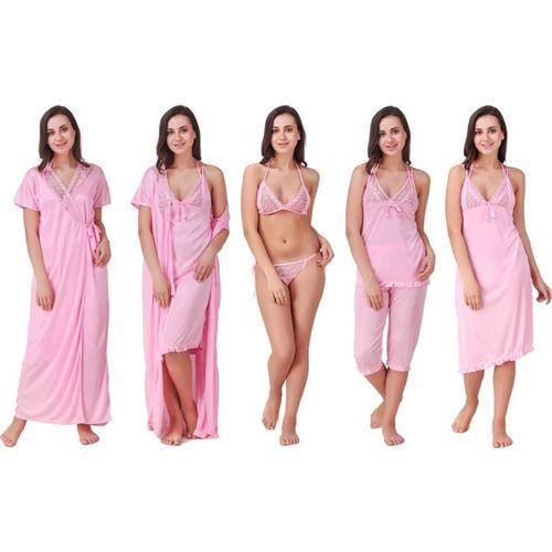 Bombshell Women Nighty Set(Pink)
