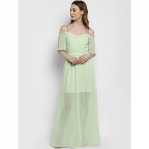 KAZO mint green maxi dress with chained shoulder strap