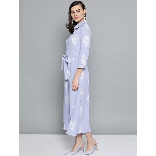 Harpa tie front striped shirt dress