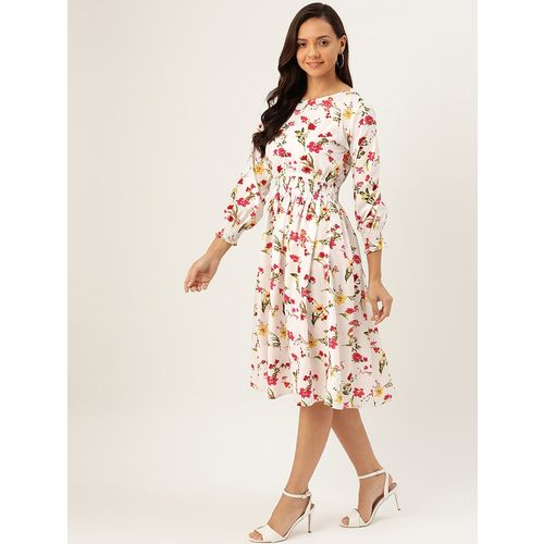 ANTS round neck floral flared dress
