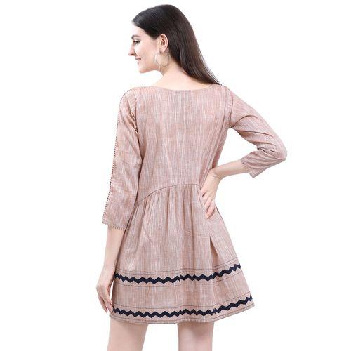 Eesha Gupta block print a-line dress