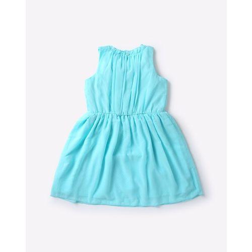 AJIO Micro Dot Print Fit & Flare Dress