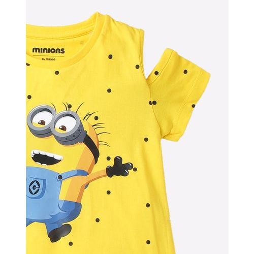 OTHER CHARACTERS Minion Print Round-Neck T-shirt