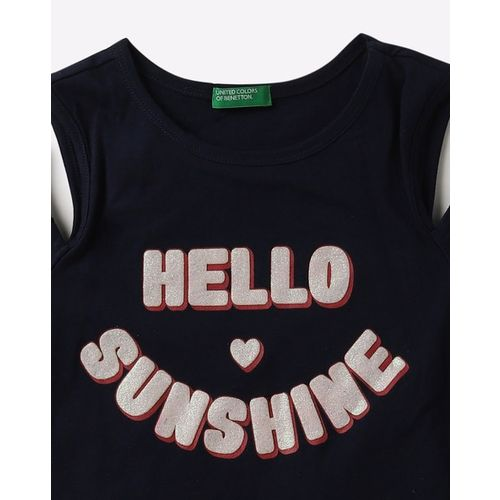UNITED COLORS OF BENETTON Typographic Print Round-Neck T-shirt