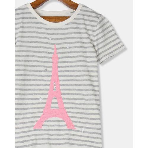 GAP Flippy Sequins Embellished Crew-Neck T-shirt