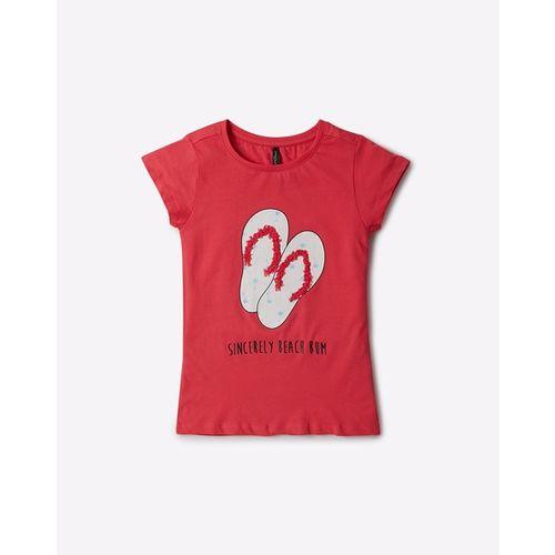 RIO GIRLS Graphic Print Crew-Neck T-shirt