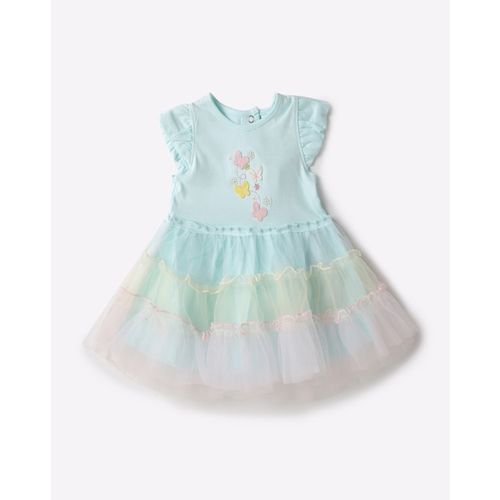 Toffy House Fit & Flare Applique Dress with Hairband