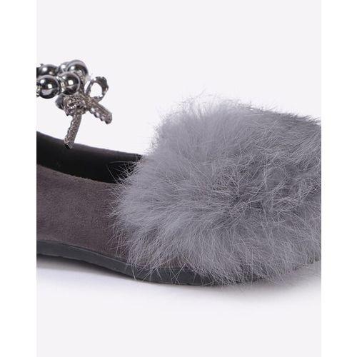 Hoppipola Ballerinas with Fur & Anklet