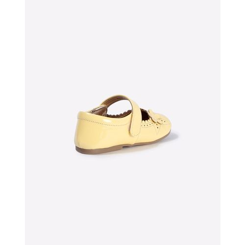 AJIO Slip-On Shoes with Floral Applique