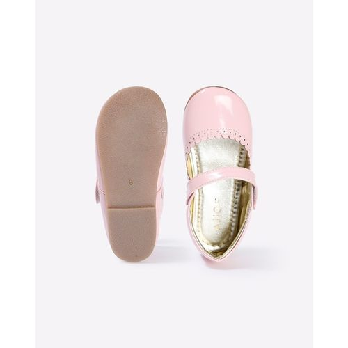 AJIO Textured Mary Janes with Scalloped Topline