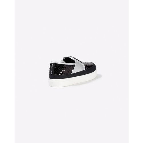 UNITED COLORS OF BENETTON Panelled Slip-On Shoes with Shimmer