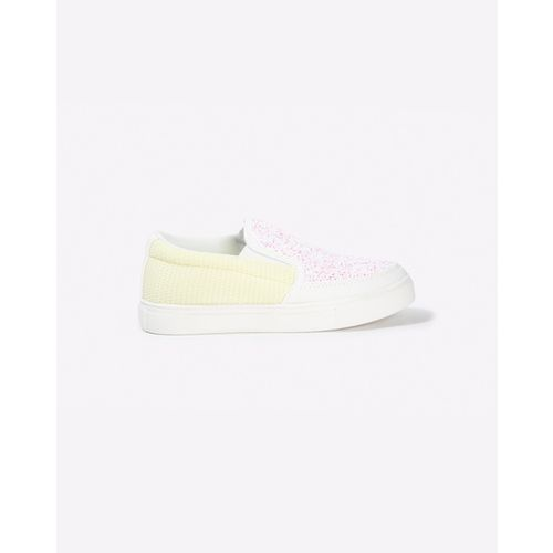 UNITED COLORS OF BENETTON Colourblock Slip-On Shoes with Shimmer