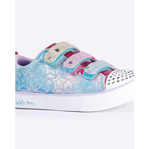 Skechers Embellished Slip-On Shoes with Velcro Fastening