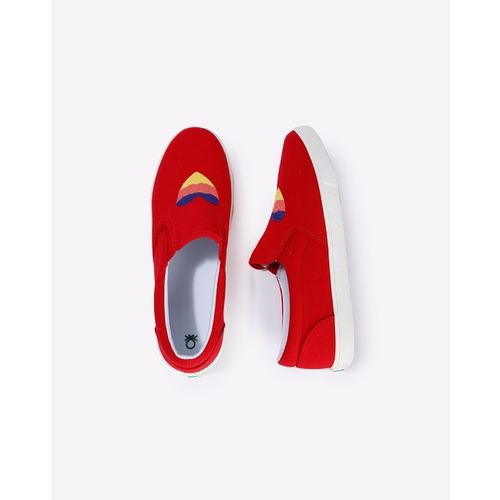UNITED COLORS OF BENETTON Panelled Slip-On Sneakers