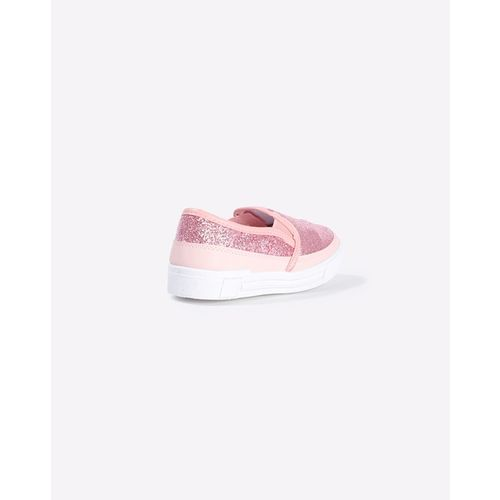 KITTENS Glitter Slip-On Shoes with Elasticated Gussets