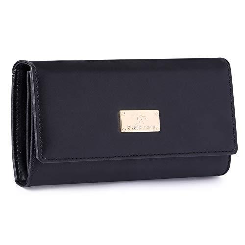 Speed X Fashion Women's Black Handbag With Purse (Set of 2)
