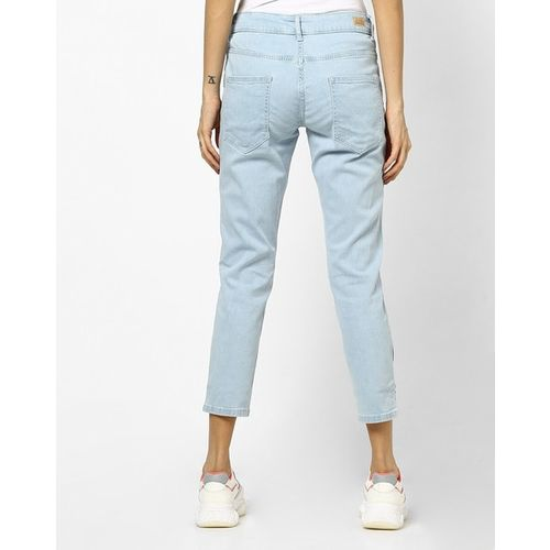 UNITED COLORS OF BENETTON Cropped Skinny Jeans with Rainbow Tape
