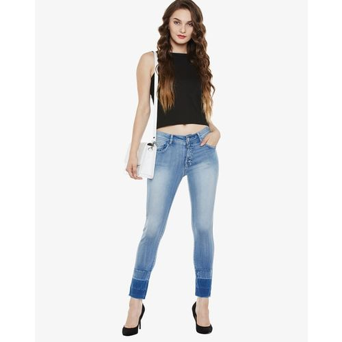 MISS CHASE Heavy-Washed Skinny Jeans