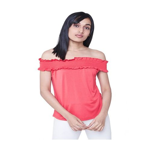 AND Red Off Shoulder Top