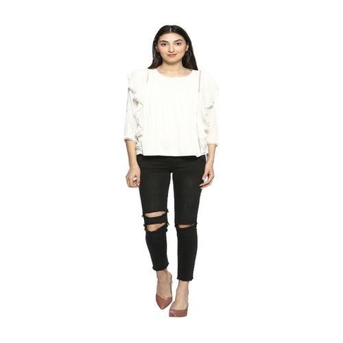 Ms Taken White Regular Fit Top