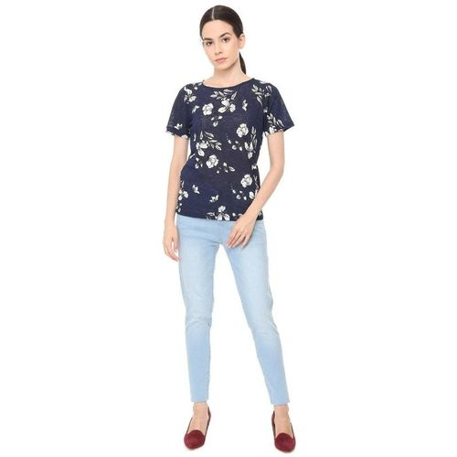 Solly by Allen Solly Navy Printed Top