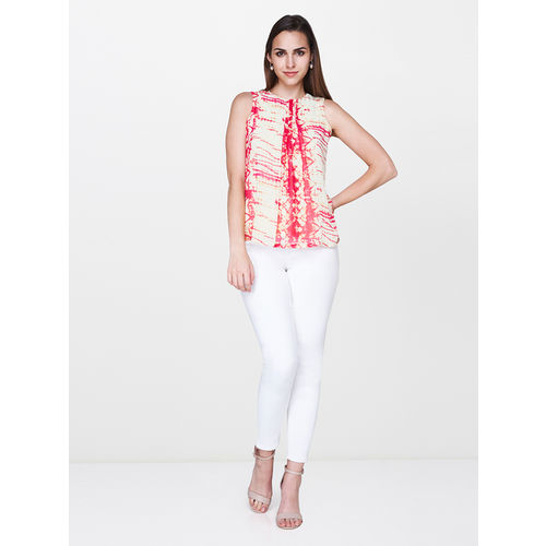 AND Pink Printed Top