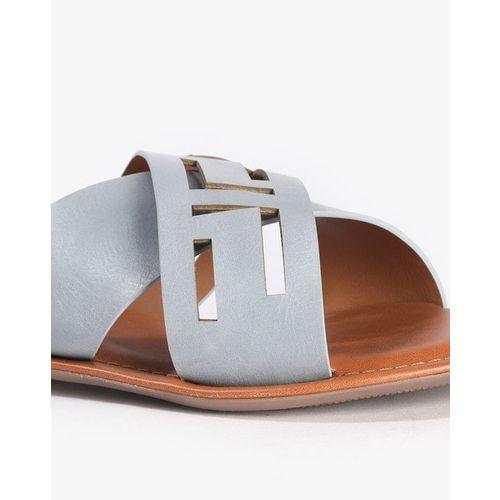 AJIO Laser-Cut Slip-On Flat Sandals