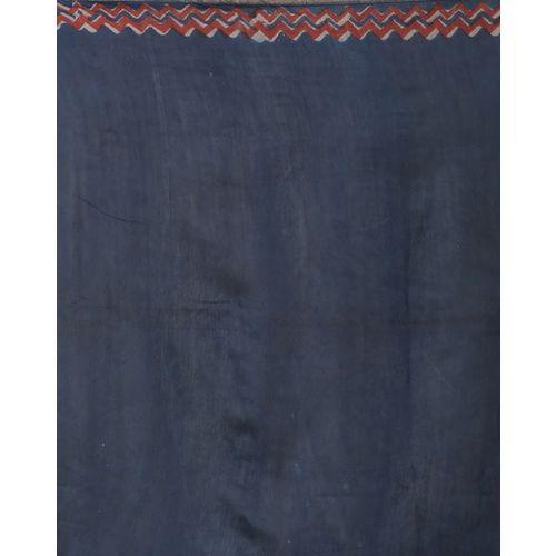 Indie Picks Tarapur Hand Block Print Pure Chanderi Saree
