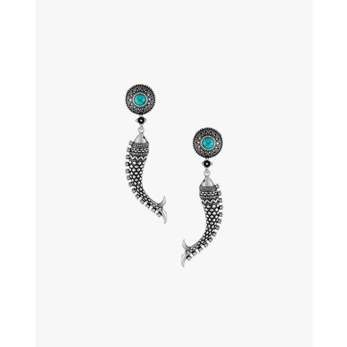 Adwitiya Collection Textured Drop Earrings