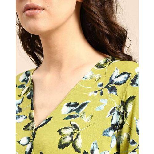 Laavni V-neck Floral Print Playsuit