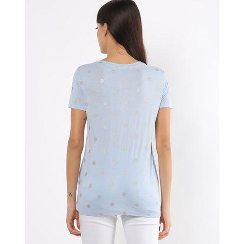 Fig Polka-Dot Crew-Neck T-shirt