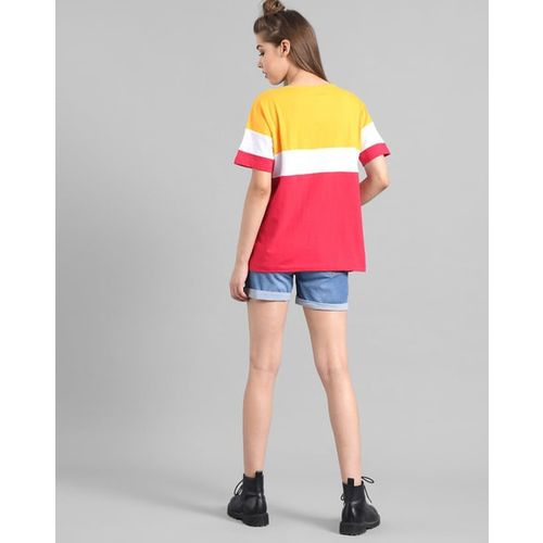 KOTTY Colourblock Crew-Neck T-Shirt