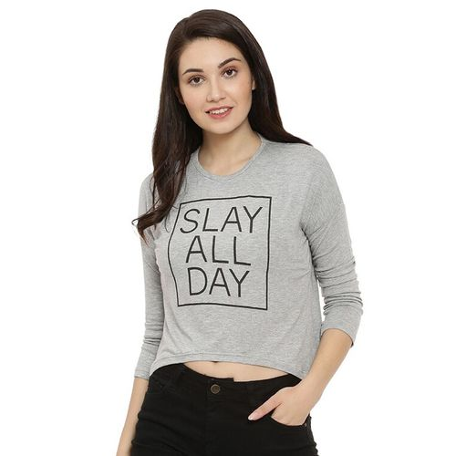 Campus Sutra round neck quirky text tee