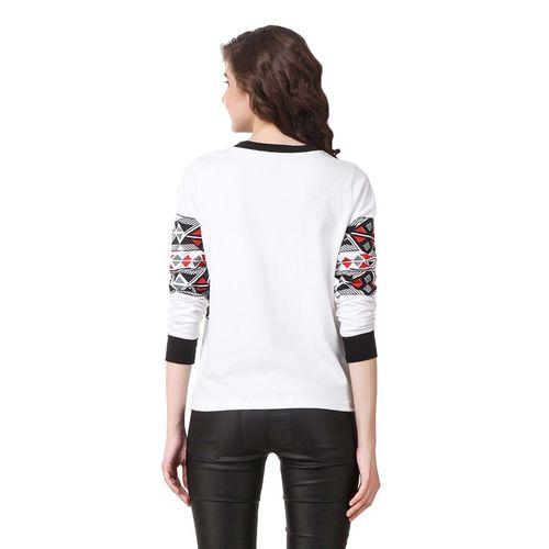 texco white printed cotton jersey tee