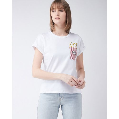MISS CHASE Graphic Print Crew Neck T-shirt