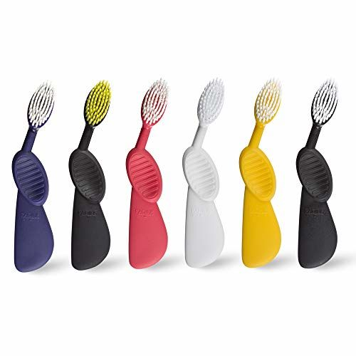 RADIUS Scuba Right Hand Toothbrush, Soft Bristles, Assorted Colors, Colors May Vary (Pack of 3)