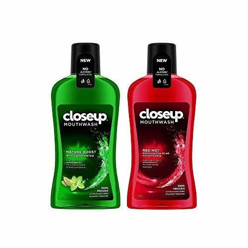 Closeup Nature Boost Anti Germ Mouthwash 500 ml