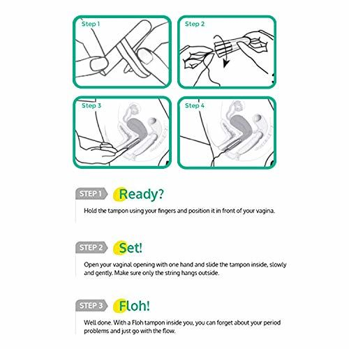 FLOH FDA Approved Regular Tampons For Women Regular Flow Single Pack (10 Pieces)