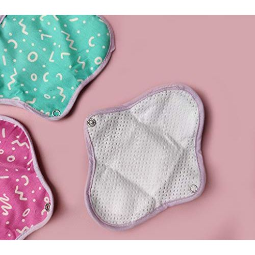 Rebelle eco-friendly reusable panty liners : Pack of 8 (Regular - 260mm)