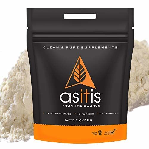 Asitis Nutrition AS-IT-IS Nutrition Whey Protein Concentrate 80% (USA Made) Unflavoured, tested for purity (5kg)