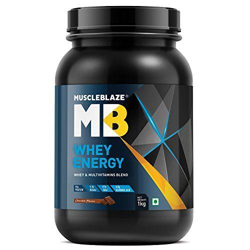 MuscleBlaze Whey Energy, 1 kg / 2.2 lb Chocolate