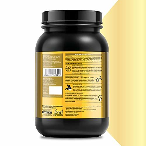 MuscleBlaze Whey Gold 100% Whey Protein Isolate with Digezyme (Rich Milk Chocolate, 1 kg / 2.2 lb)