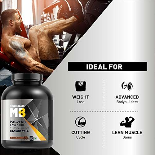 Muscleblaze Iso-zero Low-carb 100% Whey Protein Isolate (Chocolate, 2 Kg / 4.4 lb)