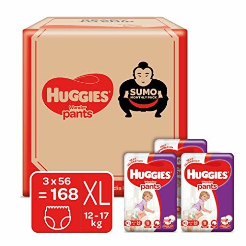 Huggies Wonder Pants, Sumo Monthly Box Pack Diapers, Extra Large (XL) Size, 168 Count