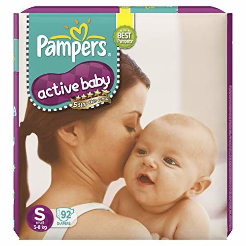 Pampers Active Baby Diapers, Small, 92 Count