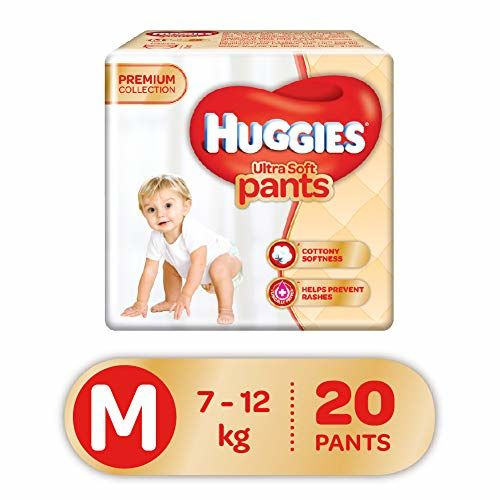 Huggies Ultra Soft Pants, Medium Size Premium Diapers, 20 Counts