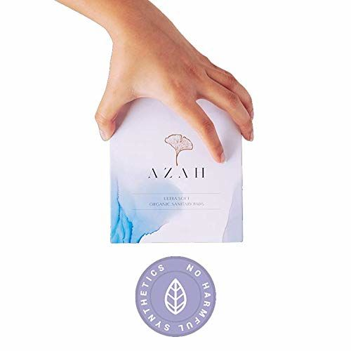 Azah Rash-free Organic Sanitary Pads (Box of 30 pads: All XL - With disposable bags)