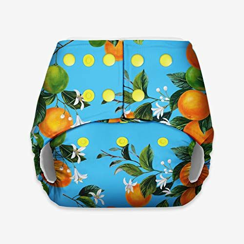 superbottoms Basic Certified Soft Fleece Lined Pocket Diaper with 1 Wet-Free Insert with Snaps (One Size Adjustable Diaper, 4 Sizes in 1, 5-17 kg, Peaches)