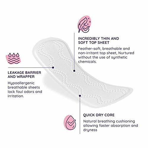 Sanfe Rash Free Panty Liners, 100% Organic Cotton and Biodegradable, 25 units (Pack of 3)
